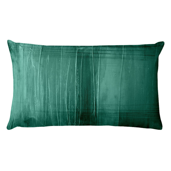 Lagoon - Teal Lumbar Pillow - The Modern Home Co. by Liz Moran
