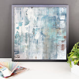 Frost - Blue and White Framed Poster Print - The Modern Home Co. by Liz Moran