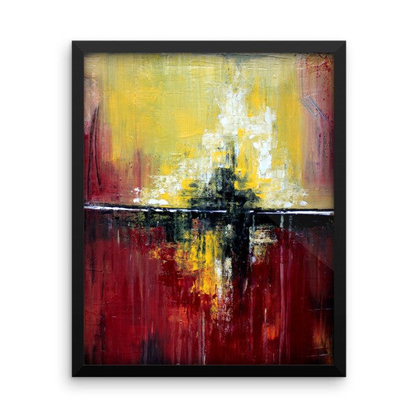 Red and Yellow Wall Art - Framed Poster Print - The Modern Home Co. by Liz Moran