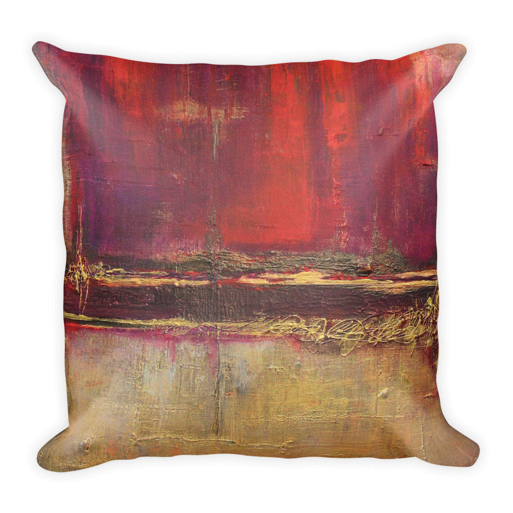Red and Gold Modern Pillow