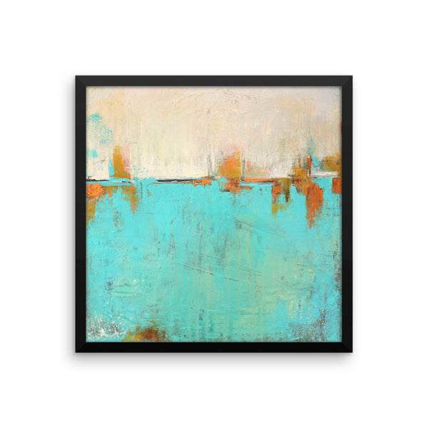 Sea of Whispers - Framed poster print - The Modern Home Co. by Liz Moran