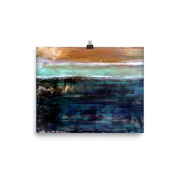 East Coast - Abstract Poster Print - The Modern Home Co. by Liz Moran