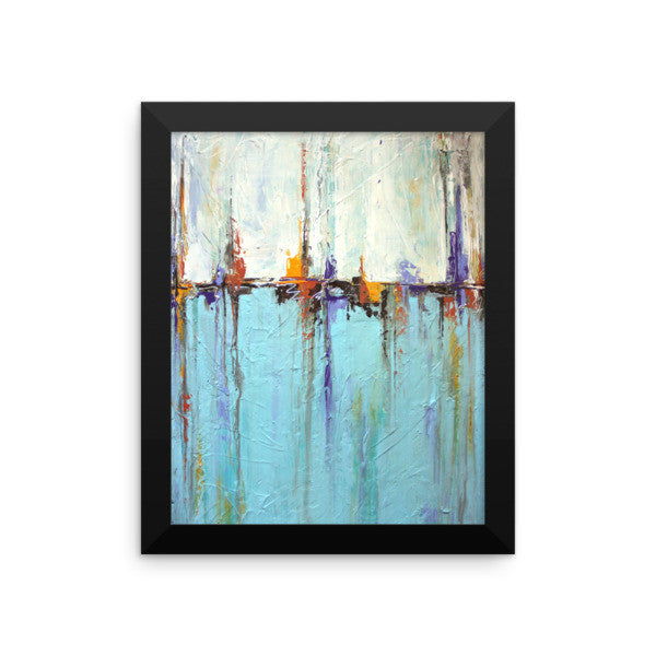 White and Blue Wall Art - Framed Poster Print - Coastal Wall Decor - The Modern Home Co. by Liz Moran