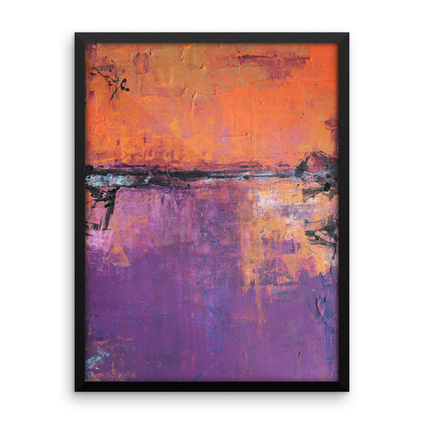 Poetic City - Framed Art Print