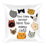 Too many cats -  Pillow - The Modern Home Co. by Liz Moran