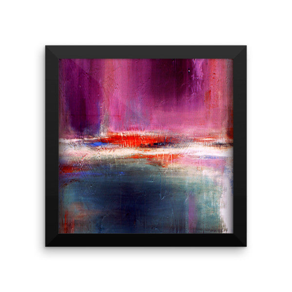 Purple and Blue Urban Art Print - Romance - Framed Poster Print - The Modern Home Co. by Liz Moran