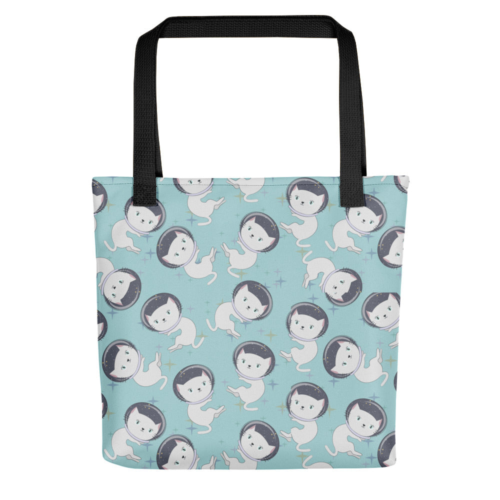 Teal Cat -Tote bag - The Modern Home Co. by Liz Moran