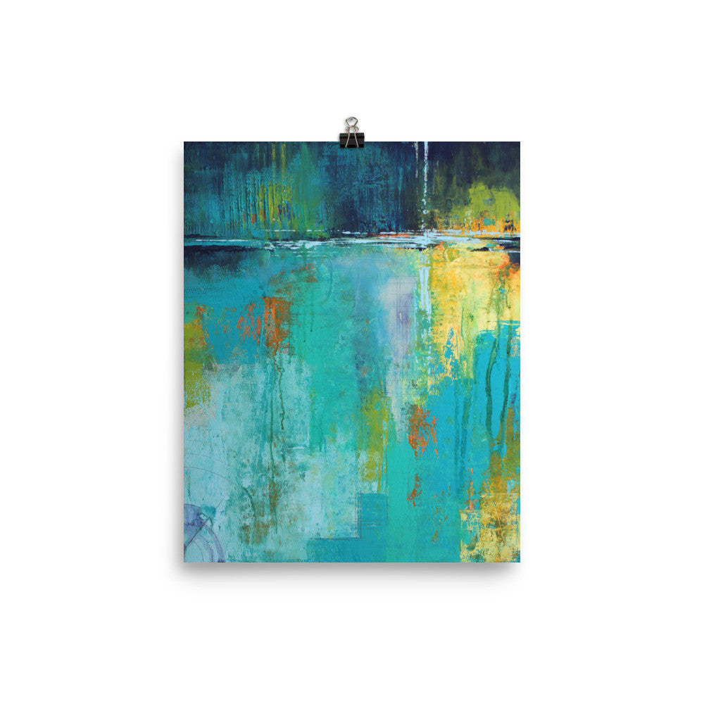 Tranquil Nights Urban Abstract Poster Print - The Modern Home Co. by Liz Moran