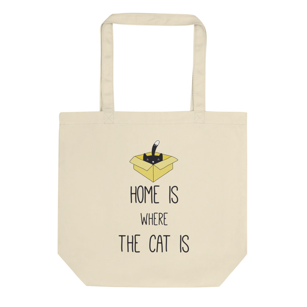 Home is where the cat is - Eco Tote Bag - The Modern Home Co. by Liz Moran