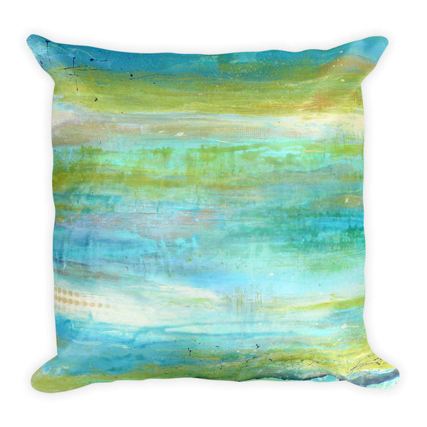 Spring Harmony - Blue and Green Pillow - The Modern Home Co. by Liz Moran
