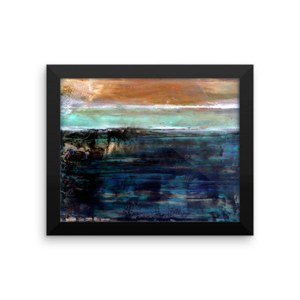 East Coast - Framed poster print - The Modern Home Co. by Liz Moran