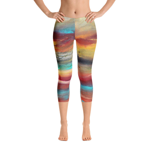 Castaway - Capri Leggings - The Modern Home Co. by Liz Moran