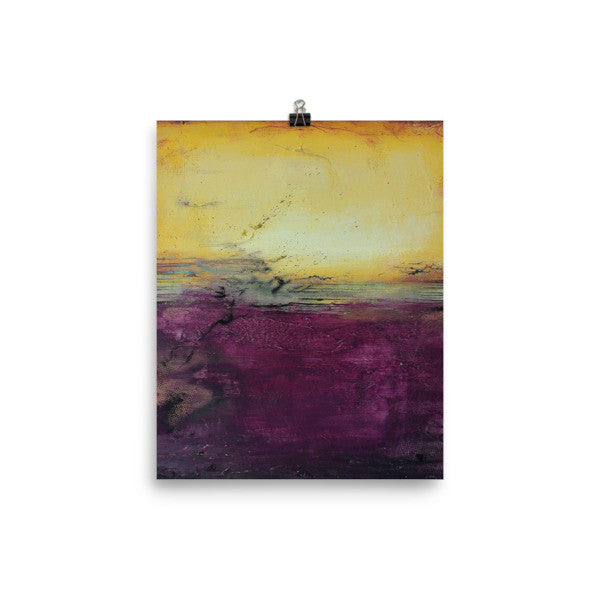 Purple Wall Art - Luxe Home Decor - Square Poster Print - The Modern Home Co. by Liz Moran