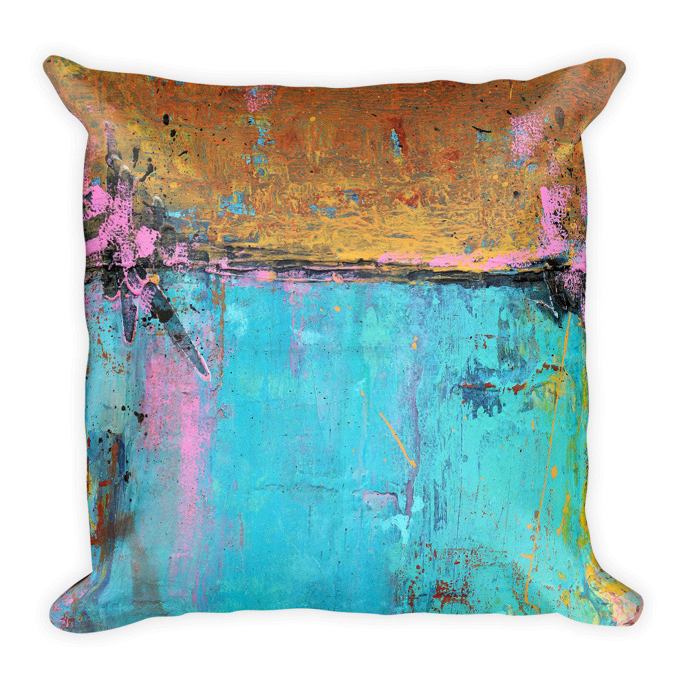 Montego Bay - Teal and Orange Throw Pillow - The Modern Home Co. by Liz Moran