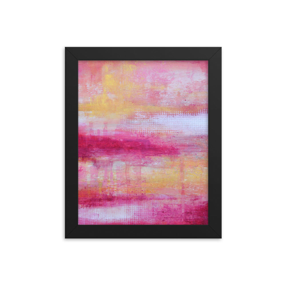 Sherbet - Framed Poster Print - The Modern Home Co. by Liz Moran