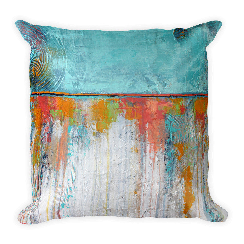 Coral Reef - Blue and White Throw Pillow