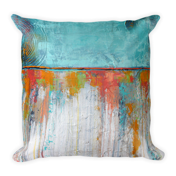 Coral Reef - Blue and White Throw Pillow - The Modern Home Co. by Liz Moran