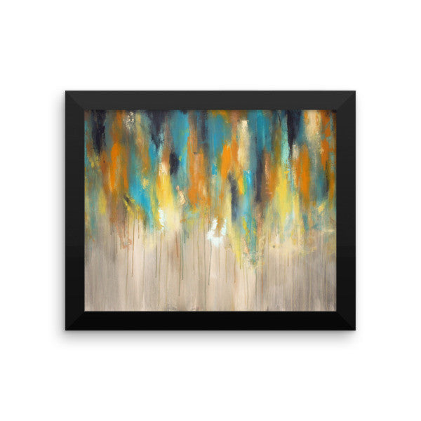 Blue and Yellow Wall Art - Framed Art Print