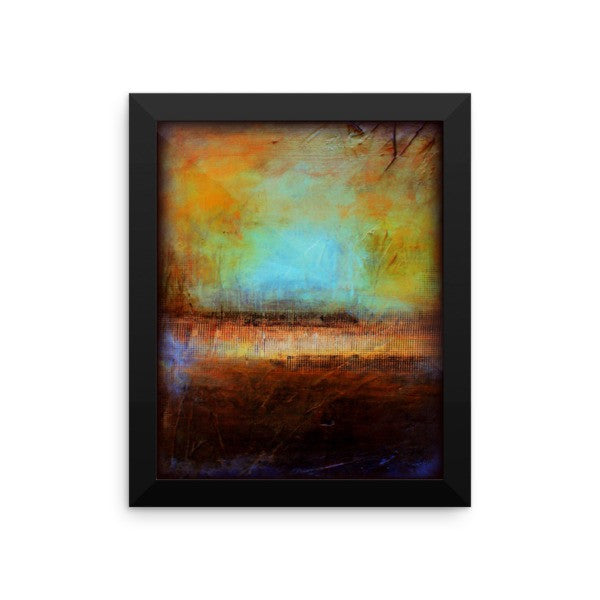 Blue and Brown Wall Decor - Framed Art  - Poster Print - The Modern Home Co. by Liz Moran