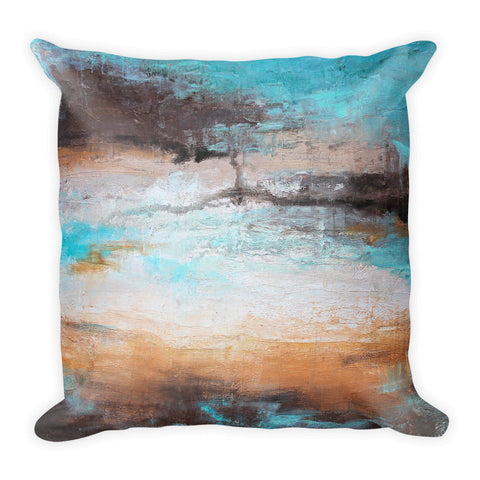 Sea Breeze - Contemporary Throw Pillow