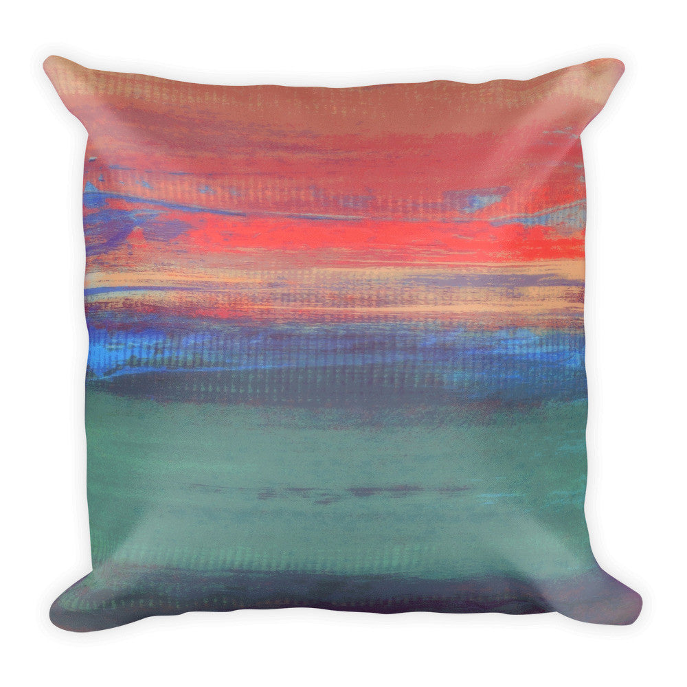 Afternoon Sun - Pink, Teal and Plum Pillow