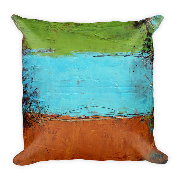 Rusted Graffiti - Throw Pillow - The Modern Home Co. by Liz Moran
