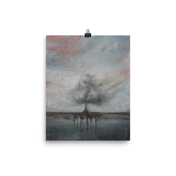 Whisked Away - Grey Tree Landscape Poster Print - The Modern Home Co. by Liz Moran