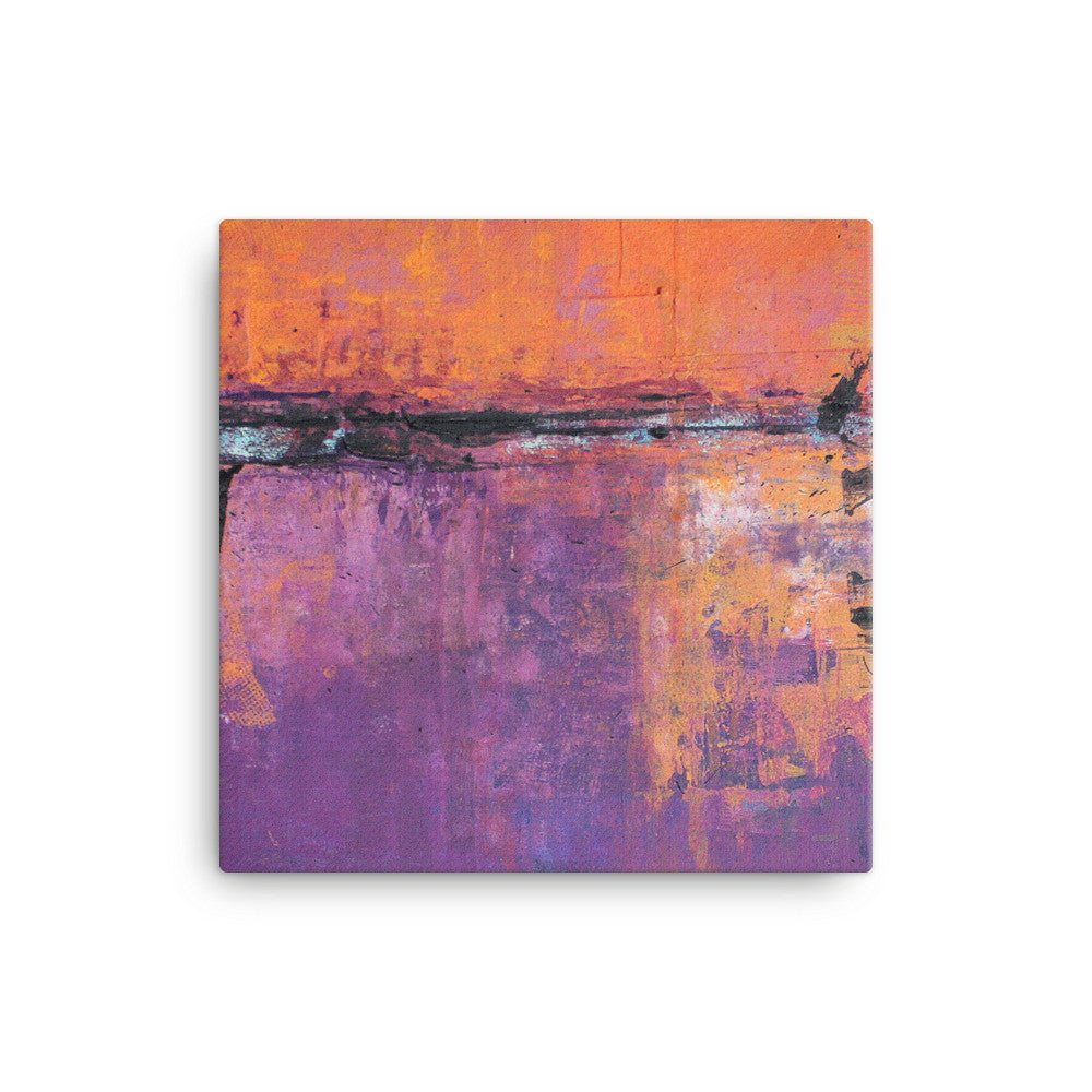 Poetic City - Wrapped Canvas Print