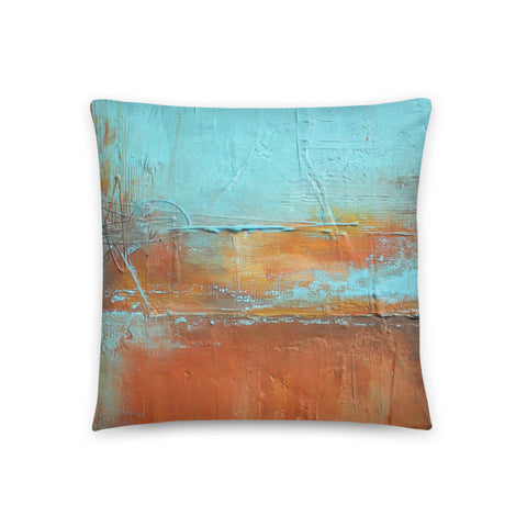 Uncovered Orange - Blue and Orange Throw Pillow