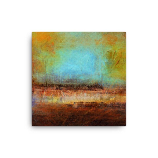 Blue and Brown Wall Art - Canvas Print - Modern Home Decor