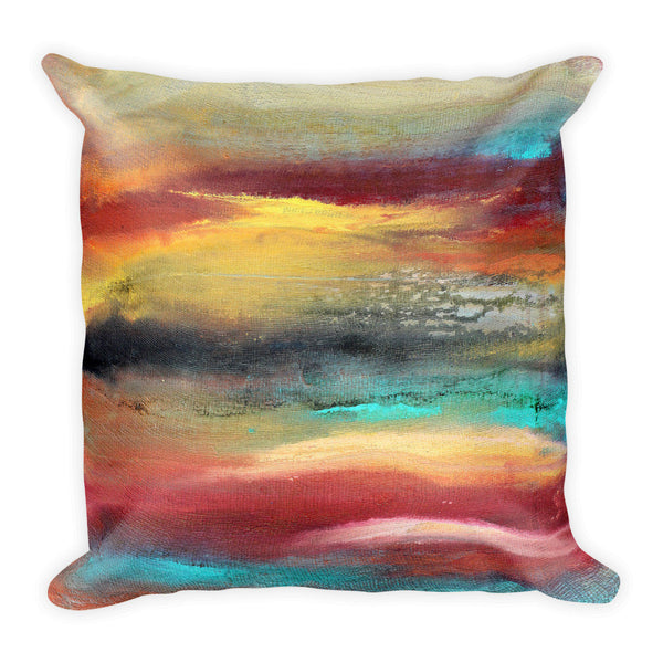 Castaway - Colorful Throw Pillow