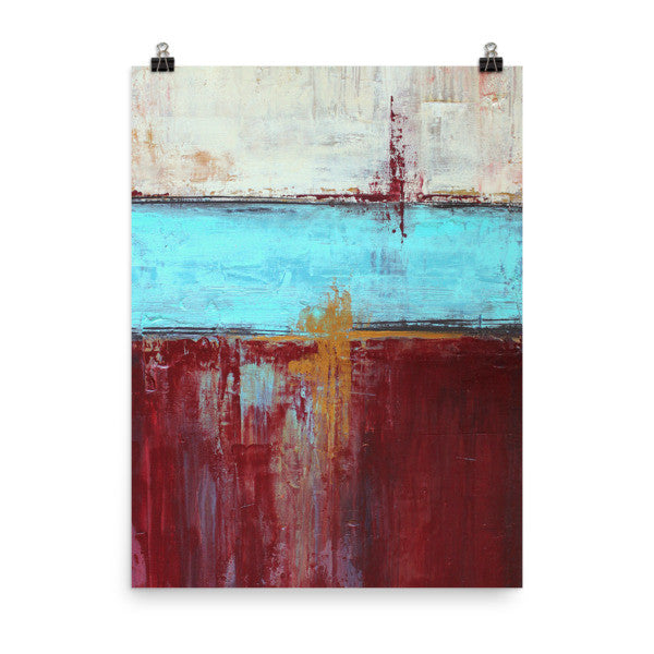 Red, White and Blue Poster Art - The Modern Home Co. by Liz Moran
