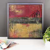 Metal Square Series I - Framed Print - The Modern Home Co. by Liz Moran