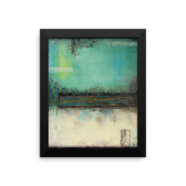 Green and White Wall Decor - Framed Print