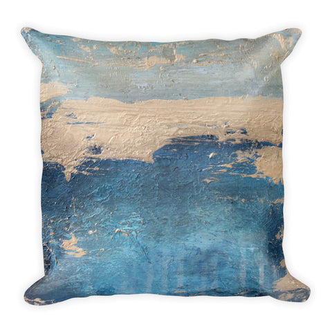 Moonstone - Navy Throw Pillow