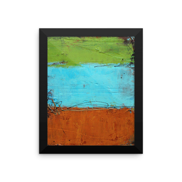 Rusted Graffiti - Framed photo paper poster