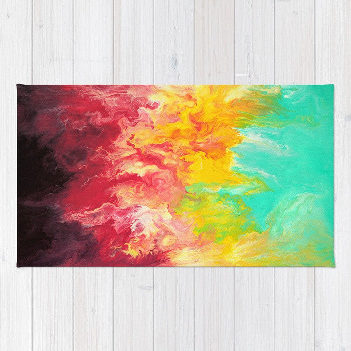 Pop - Rainbow Throw Rug