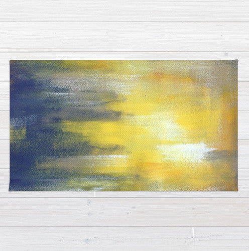 Yellow and Grey Area Rug -  Modern Color Combination - The Modern Home Co. by Liz Moran