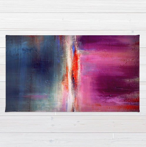 Romance – Purple and Blue Area Rug– Luxe Home Decor - The Modern Home Co. by Liz Moran