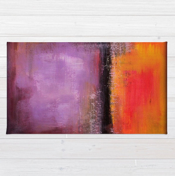 Orange and Purple Area Rug – Abstract Landscape – Abstract Sunset - The Modern Home Co. by Liz Moran