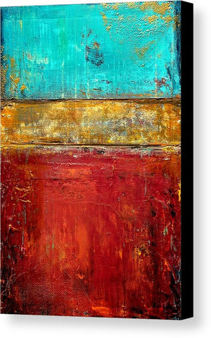 Red and Gold Wall Art - Canvas Print - Red, Gold an Blue
