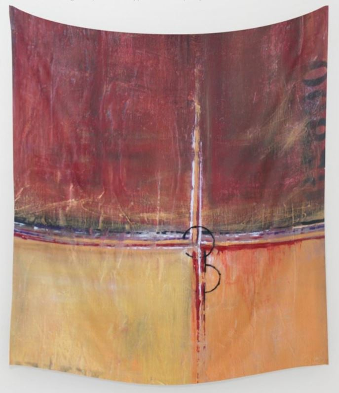 Cargo - Red and Gold Wall Tapestry - The Modern Home Co. by Liz Moran
