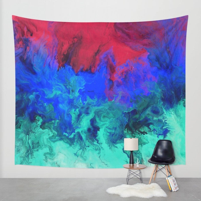 Fire and Ice - Abstract Wall Tapestry