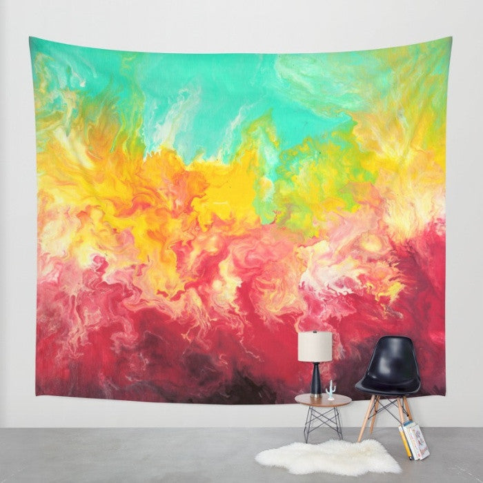 Abstract Rainbow - Wall Tapestry - The Modern Home Co. by Liz Moran