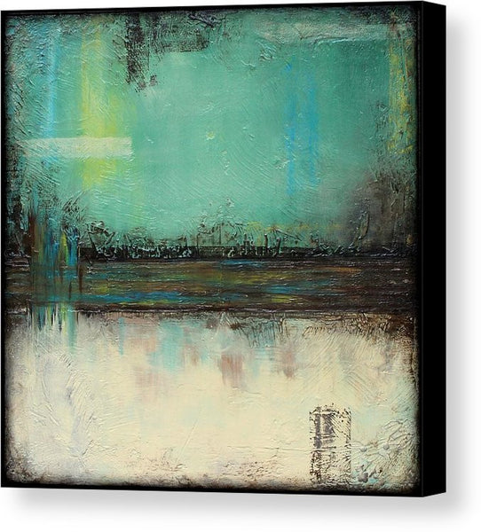 Sage Green and Ivory - Canvas Print - The Other Side - The Modern Home Co. by Liz Moran