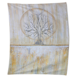 Solstice - Yellow and Grey Wall Tapestry
