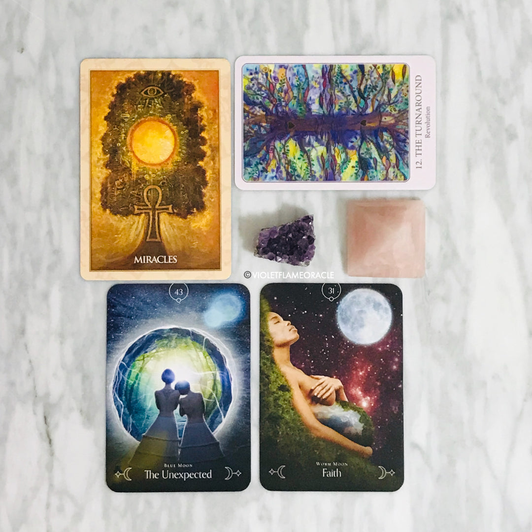 tarot reading violet flame oracle
