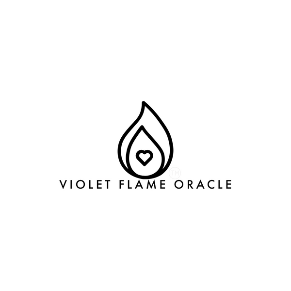 violet flame oracle logo copyright 2020 violet flame oracle llc