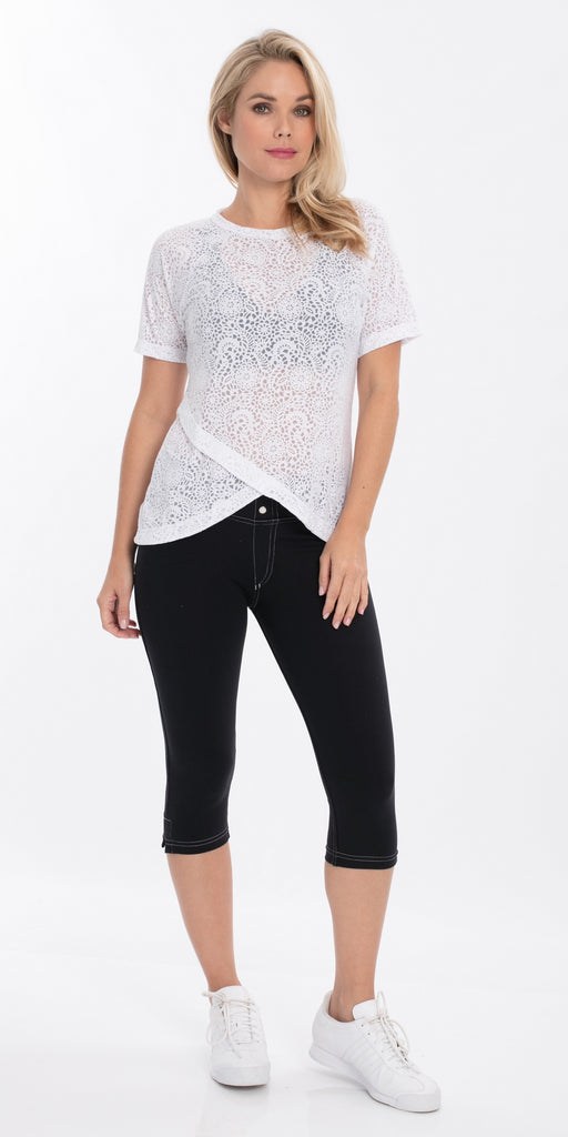 Burnout Top Short Sleeve