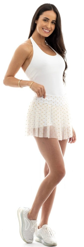 Gold Pleated Skort